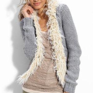 Free People North Star Cardigan Faux Fur Medium